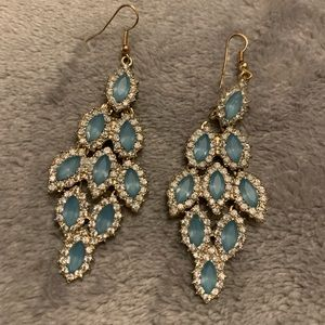 Light Blue Chandelier Earrings from Forever 21